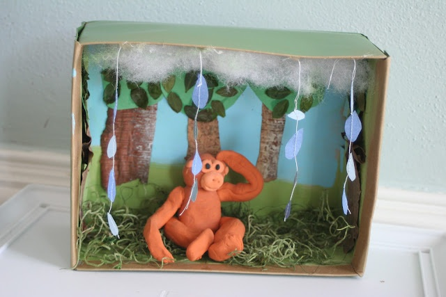 Outdoor Diorama Forest Shoe Box