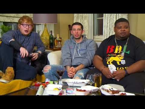 Ed Sheeran Watches TV with Example and Big Narstie - YouTube