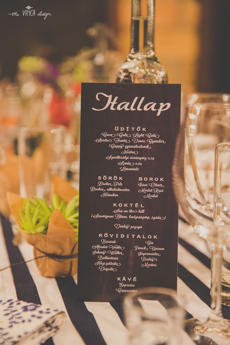 Vinca Design, France inspired wedding, wedding stationery, drink menu, bar menu // francia esküvő, itallap