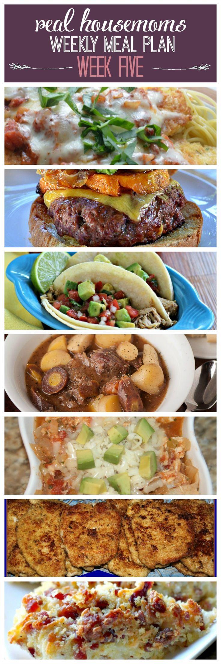 Weekly Meal Plan {Week 5} - Real Housemoms