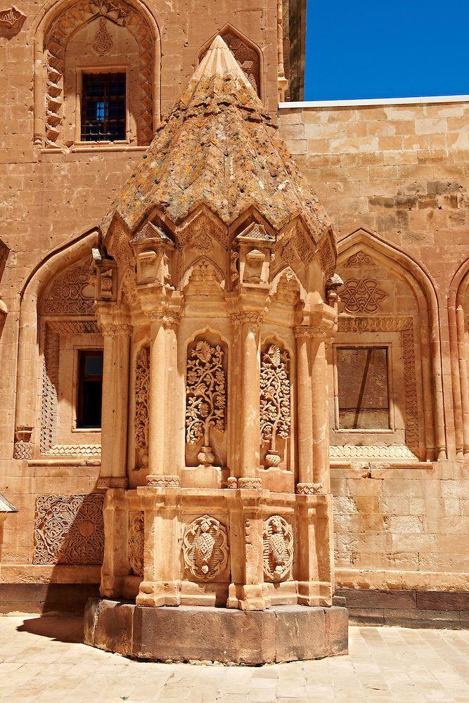 Tomb of the 18th Century Ottoman architecture of the Ishak Pasha Palace (Turkish: İshak Paşa Sarayı) , Ağrı province of eastern Turkey.