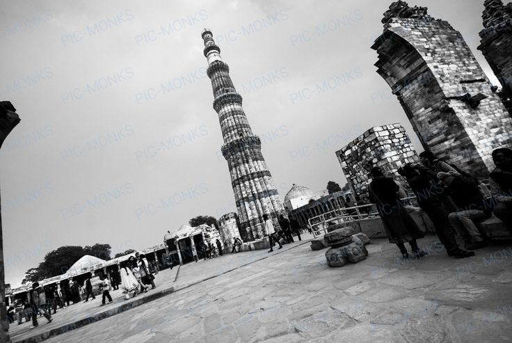 The Qutb Minar is the most prominent monument of the Qutb Minar Complex (also called the Qutub Minar Complex) is a set of historical monuments and buildings at Mehrauli in Delhi, India. It was built to honor the Sufi saint Qutbuddin Bakhtiar Kaki. Built during Qutb-ud-din Aibak's (who later became the first Sultan of Delhi of the Mamluk dynasty) reign, and was added upon by his successor Iltutmish and by Firoz Shah Tughlaq, a Sultan of Delhi from the Tughlaq dynasty in 1368 AD.