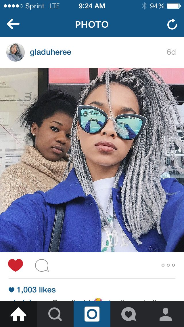 Short grey box braids | Gladys Ipendey @gladuheree ❤️❤️