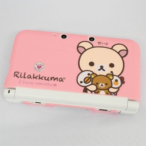 FREE-SHIPPING-Pink-Rilakkuma-Nintendo-3DS-XL-Hard-Case-JAPAN-No-K1