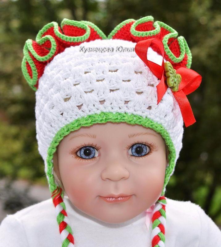 Шапочки для куклы, новорожденной девочки / Одежда для кукол / Шопик. Продать купить куклу / Бэйбики. Куклы фото. Одежда для кукол