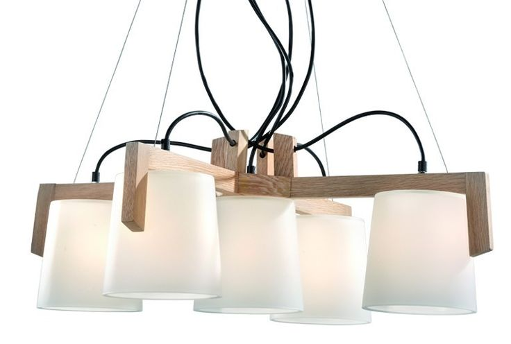 Pendant Lighting with Wood and Glass