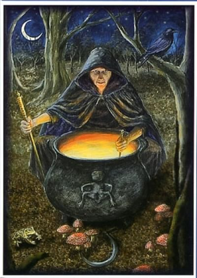 Cerridwen the Celtic Goddess of Witchcraft and the Underworld, there are similarities with Hecate among others..