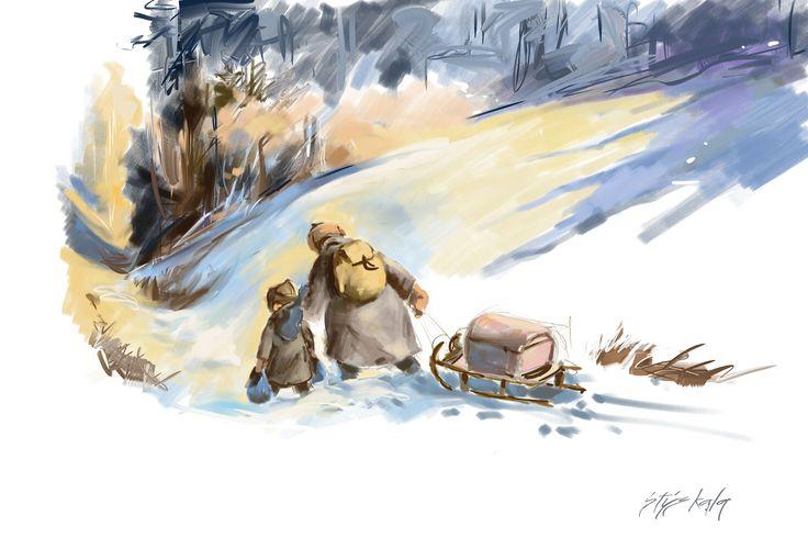Ilustrace, corel painter