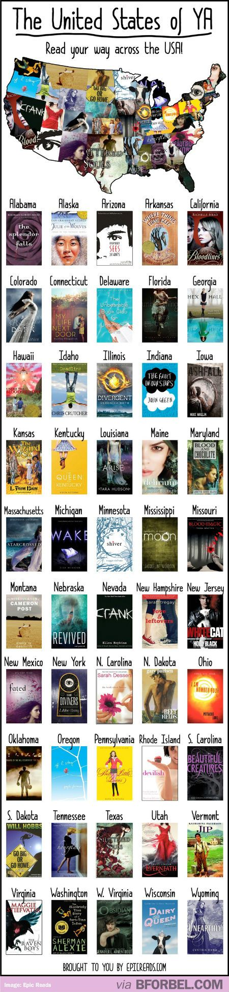 Young Adult Fiction From Every State In The United States…