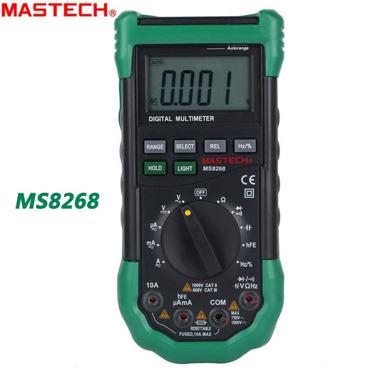49.08$  Watch now  - MASTECH MS8268 Digital Multimeter Auto Range protection ac/dc ammeter voltmeter ohm Frequency electrical tester diode detector
