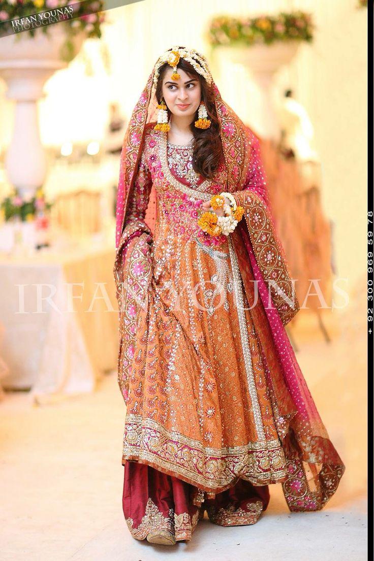 319 best images about mayun mehendi on pinterest for Pakistani wedding mehndi dresses
