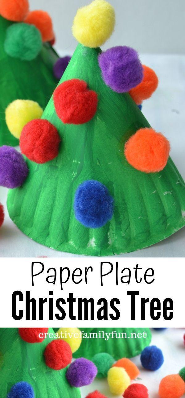 Paper Plate Christmas Tree Kids Craft Creative Family Fun Paperplate Christmas Crafts Christmas Crafts For Toddlers Christmas Tree Crafts