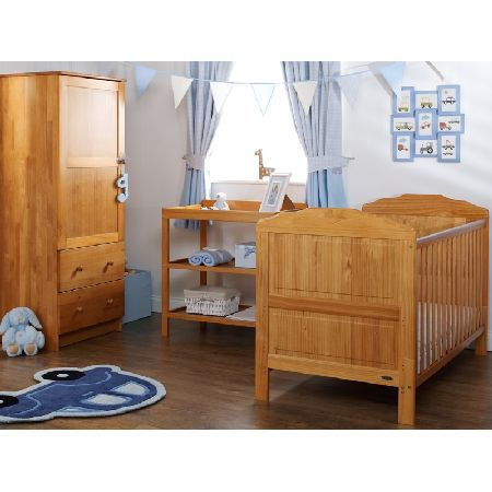 OBaby Beverley 3 Piece Furniture Set-Country PACKAGE INCLUDES: OBaby Beverley Cot Bed OBaby Open Changing Unit OBaby Single Wardrobe OBABY Beverley COTBED: The Obaby Beverley Cot Bed has a classic style with 3 mattress base heights. The top heig http://www.MightGet.com/march-2017-1/obaby-beverley-3-piece-furniture-set-country.asp