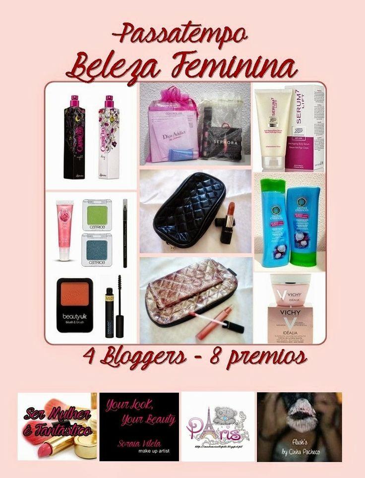 Flash's by Cinha Pacheco: Passatempo Beleza Feminina: 4 Bloggers - 8 Vencedo...