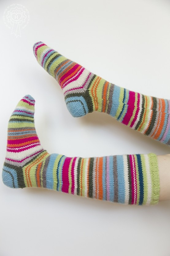 Pitkät raitasukat / Long stripe socks
