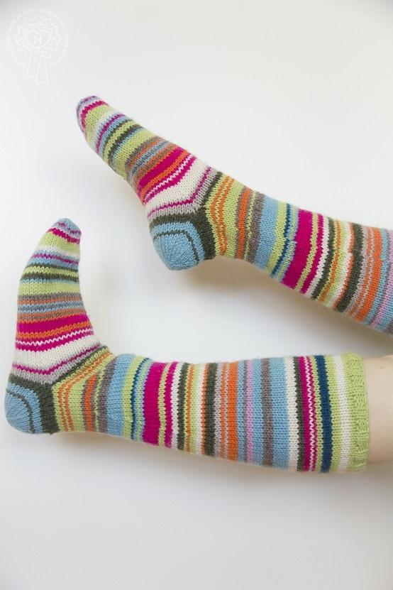 Pitkät raitasukat / Long stripe socks