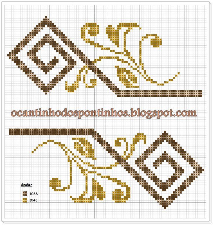 O Cantinho dos Pontinhos: Gráfico Geométrico Floral