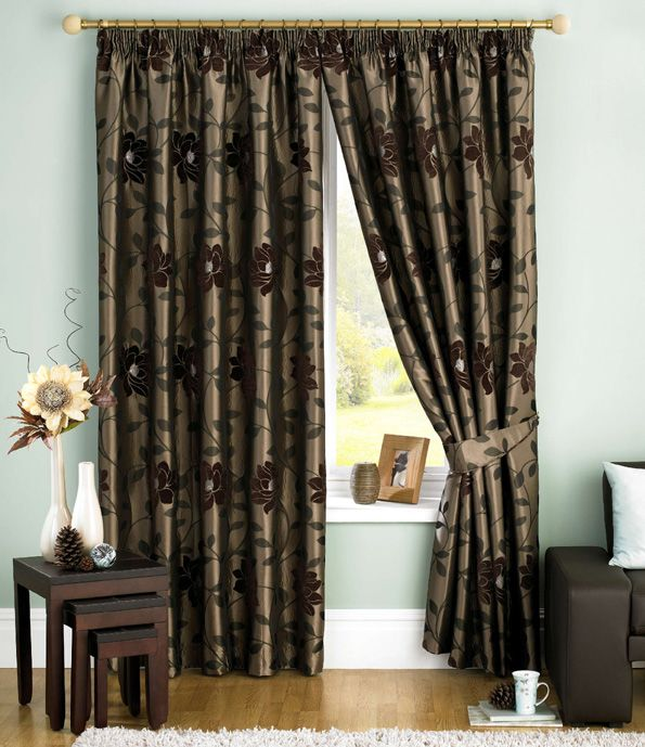 A Contemporary Floral Jacquard With Chenille Detail Curtain Suits Both Modern And Traditional Rooms