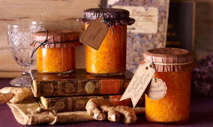 Kürbis-Orangen-Konfitüre mit Ingwer Rezept: Eine herbstliche Konfitüre mit frischem Ingwer - Eins von 5.000 leckeren, gelingsicheren Rezepten von Dr. Oetker!