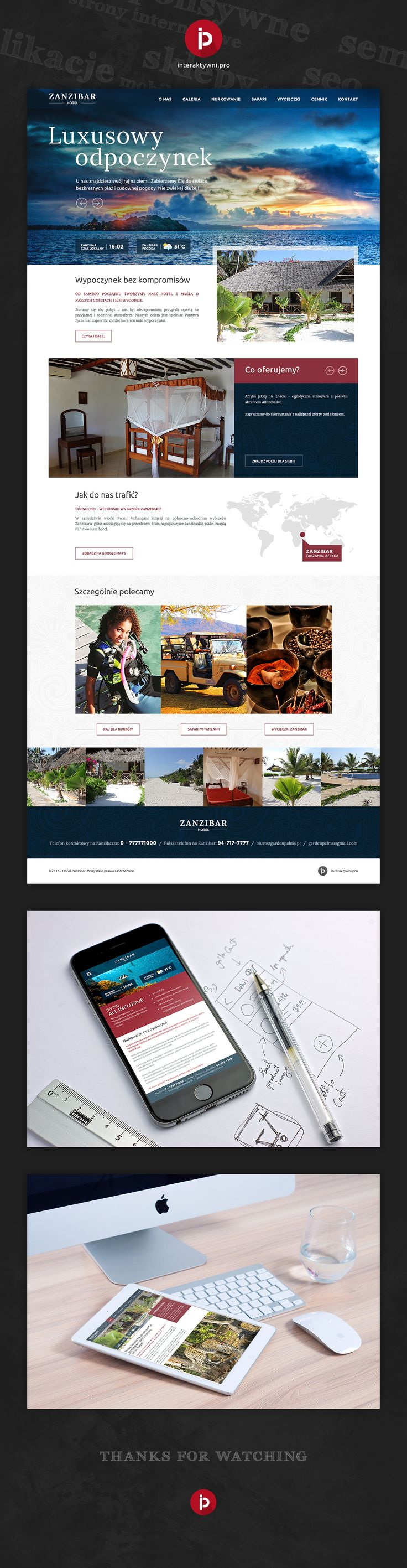 Poslki hotel na Zanzibarze - kompleksowa realizacja responsywnej strony internetowej w naszym wykonaniu. // Polish hotel on Zanzibar - our comprehensive realization of responsive website. #responsywnastronainternetowa #agencjainteraktywna #interaktywni