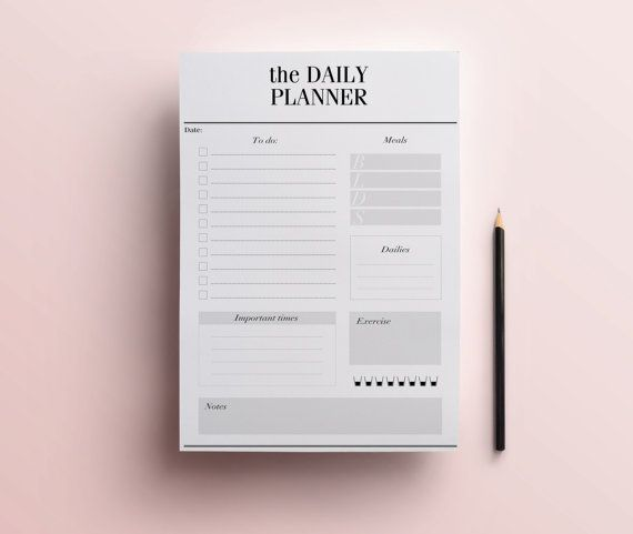 Daily Planner Printable Stylish To Do List by CrossbowPrintables
