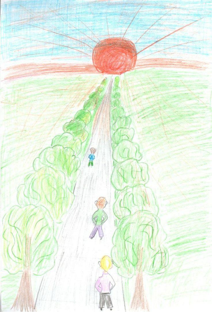 Мосунов Степан 10 лет  Название рисунка: Идущие к солнцу