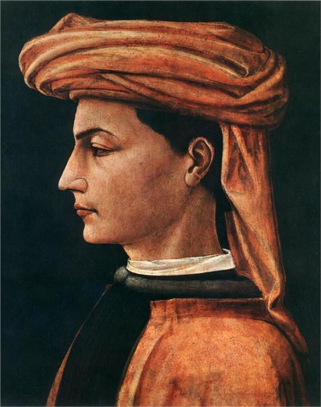 Paolo Uccello (Italian 1397–1475) [Early Renaissance] Portrait of a Young Man, 1440. Chambéry, musée des Beaux Arts.