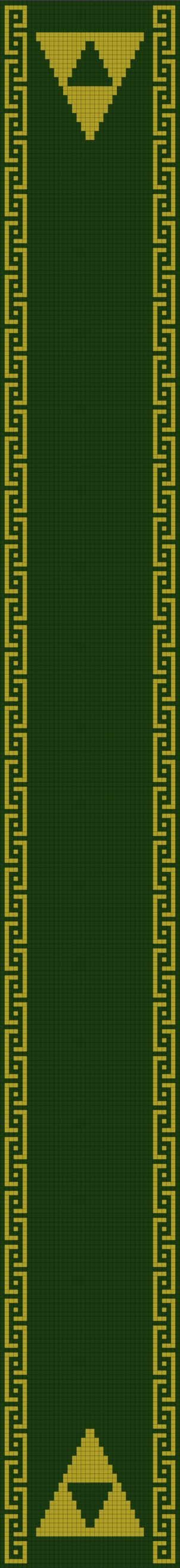 Legend of Zelda Scarf Pattern (double knitting) by Yodaman921