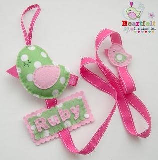 Heartfelt Handmade's Blog: hair clip holder