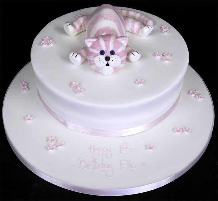 53 best Cakes images on Pinterest Cat birthday cakes Cat cakes