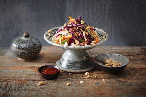 A la mode asiatique : coleslaw aux cacahouètes.
