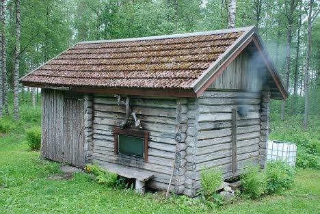 Traditional smoke sauna - just like my grandparents !!!