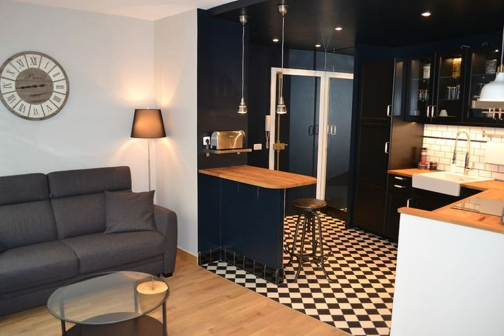 in Paris, France. Superb totally new housing. 1st floor & lift A double bedroom, a double sofa bed . Equipped for 4 people . Just next Bastille underground (line 1) . Ultra modern kitchen complete. Bose Bluetooth speaker . Wifi , international channels , 2 LCD TV. ...