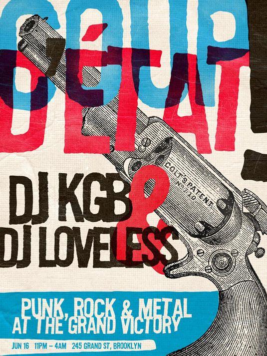 DJ KGB & DJ Loveless - punk rock and metal at the grand victory gig poster