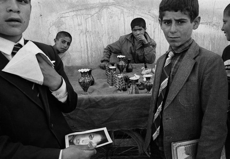 Nikos Economopoulos TURKEY. Patnos village. Schoolboys at the marketplace. 1990.