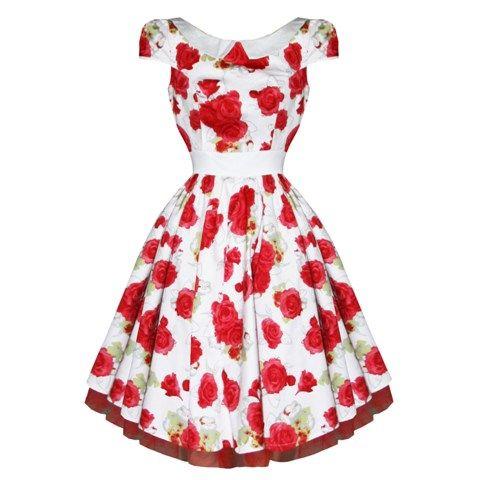 Summer Roses-mekko - Naiset - Mekot - Underground Store & Piercing Studio #rose #ruusu #dress #mekko #50's #pinup #undergroundstore.fi