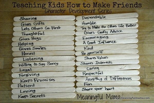 Teaching Kids to Make Friends - Another fun game in the character development series at Meaningful Mama