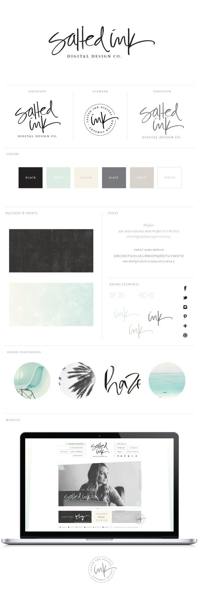 The New Salted Ink Brand Design | Branding By Salted Ink | visit the new site at www.saltedink.com | #brand #design #branding