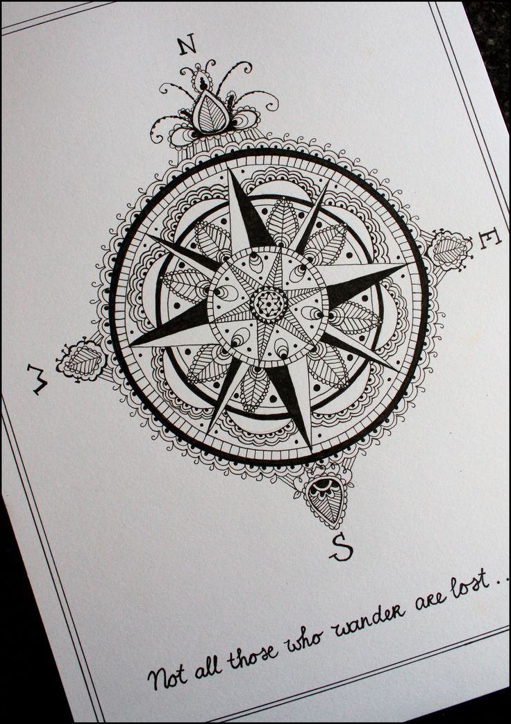 Compass Tattoo Line Drawing : Compass tattoo drawing put it on me pinterest