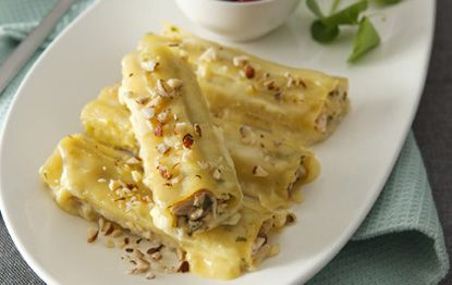 Turkey, Hazelnut  Sage Cannelloni with Cherry Sauce - San Remo