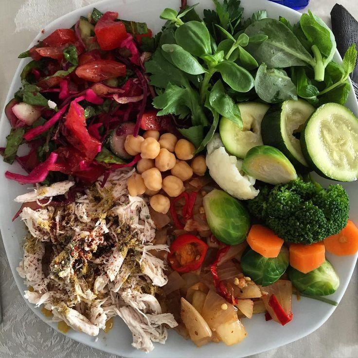 """284 Beğenme, 1 Yorum - Instagram'da M.Pırıl Şenol (@simdipirilla): """"Evde açık büfe yapan öğle yemekleri de gördüm😂🤗 Protein kaynaklarıyla,sebzeleri kombinlemekte özgür…"""""""