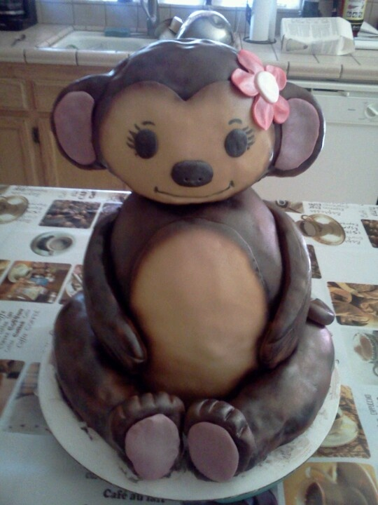 Monkey Cake Design Easy : 3D MONKEY CAKE My Creations......DaLizious Cake ...