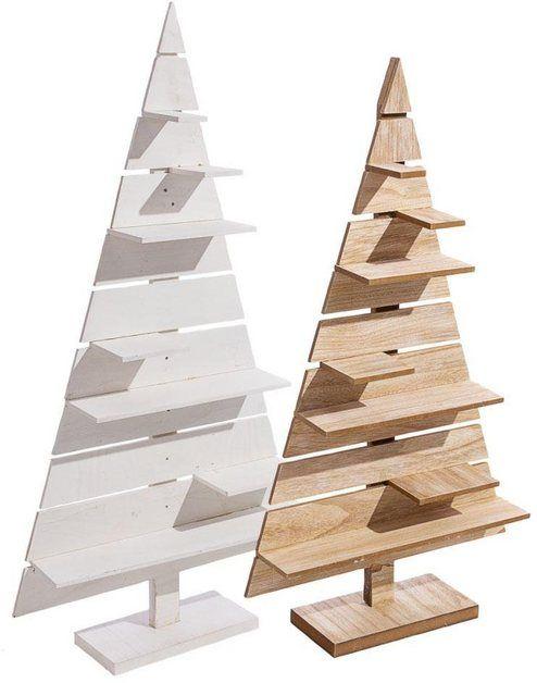 dekobaum »tannenbaum« mit präsentationsfläche  paletten