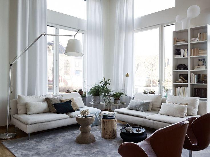 Ikea 'Söderhamn' sofas in elegant home