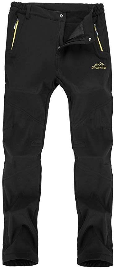 Singbring Women s Outdoor Fleece Windproof Hiking Pants Waterproof Ski Pants 08ba82406