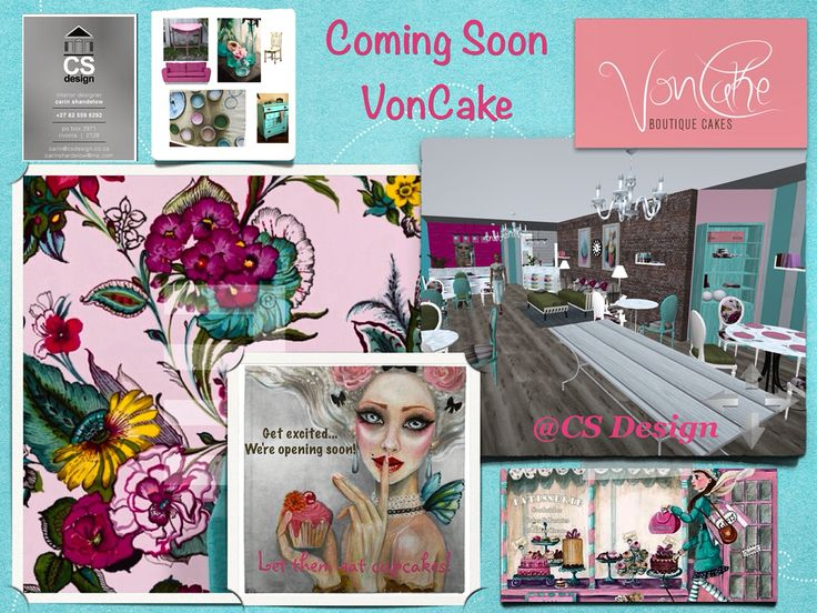 Coming soon VonCake a Pattiserie with Boutique Cakes on offer in the newly revamped Summerfield Shopping Center Boskruin by CS Design # Pattiserie #restaurantdesign