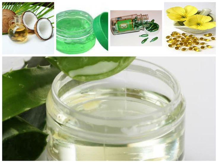 Kosmetik selber machen Augencreme Kokosöl Aloe vera Nachtkerzenöl #beauty #cosmetics #diy #products