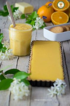 Tarta de crema de naranja y merengue