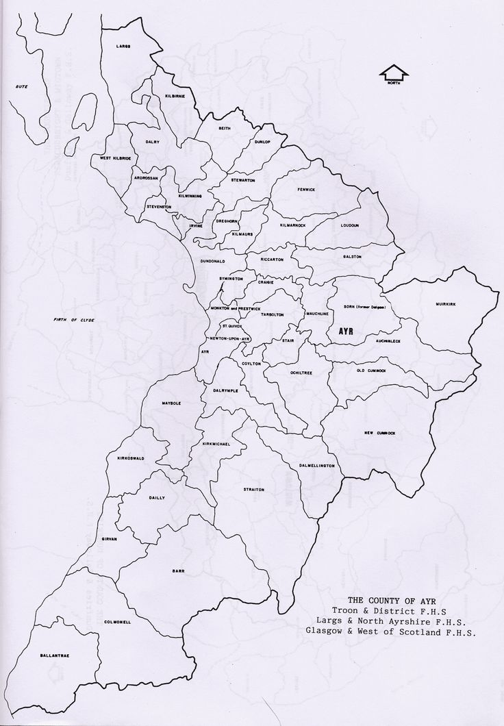 Parish maps of Ayrshire from Scotlandsfamily.com - Scottish genealogy portal assisting Scottish ancestor search
