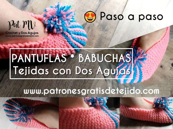 Pantuflas Dos Agujas Para Mujer Paso A Paso En Español Como Tejer Pantuflas Pantuflas Zapatos De Ganchillo